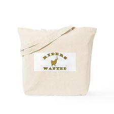Llama Riders Wanted Tote Bag
