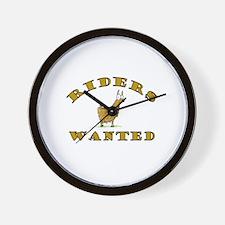 Llama Riders Wanted Wall Clock
