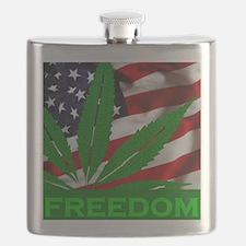 Marijuana Freedom Flag Flask