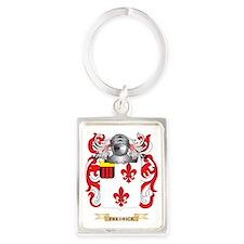 Fredrick Coat of Arms Portrait Keychain