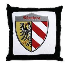 Nuremberg Germany Metallic Shield Throw Pillow
