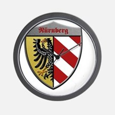 Nuremberg Germany Metallic Shield Wall Clock