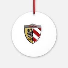 Nuremberg Germany Metallic Shield Round Ornament