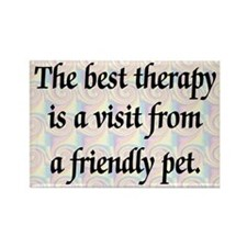 Therapy Pet Rectangle Magnet
