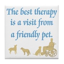Therapy Pet Tile Coaster