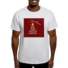 Red Golden Christmas T-Shirt