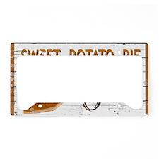 Sweet Potato Pie License Plate Holder
