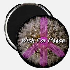 Wish For Peace Dandelion Magnet