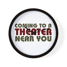 Theater Coming Soon Wall Clock