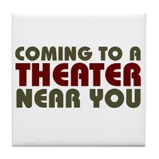 Theater Coming Soon Tile Coaster