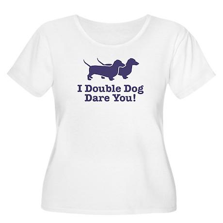 I Double dog Dare You, Dachsh Women's Plus Size Sc