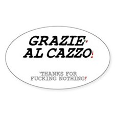 ITALIAN - THANKS FOR FUCKING NOTHIN Decal
