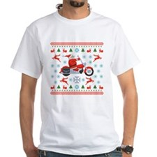 Santa Biker Sweater Tee Shirt