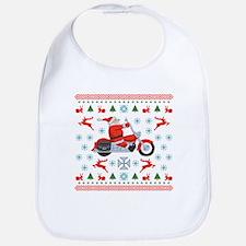 Santa Biker Sweater Tee Bib