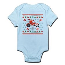 Santa Biker Sweater Tee Infant Bodysuit