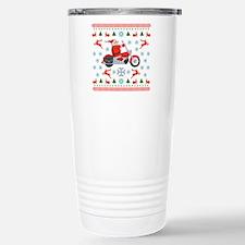 Santa Biker Sweater Tee Travel Mug