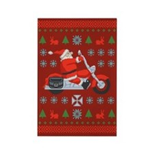Santa Biker Sweater Tee Rectangle Magnet