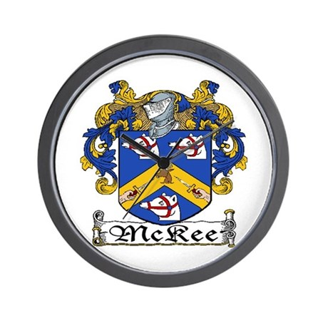 McKee Coat of Arms Wall Clock