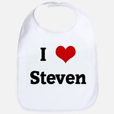 I Love Steven Bib