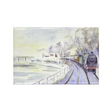 Tyne Valley Line xmas card Rectangle Magnet
