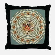 White Rabbit Vintage Throw Pillow