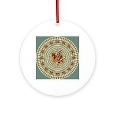 White Rabbit Vintage Round Ornament