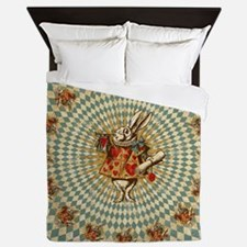 White Rabbit Vintage Queen Duvet