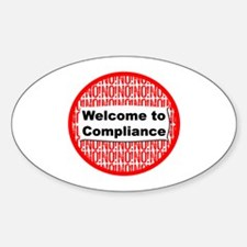 Hi Compliance Oval Decal