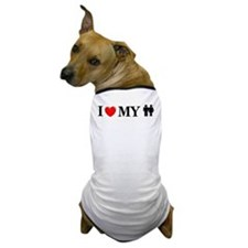 Love My Humans Dog T-Shirt