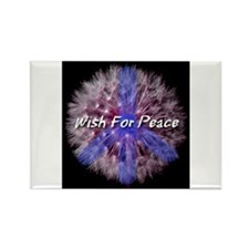 Wish For Peace Dandelion Rectangle Magnet