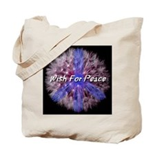 Wish For Peace Dandelion Tote Bag