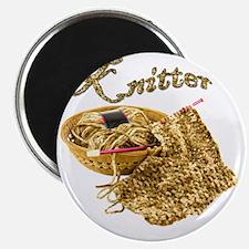 Knitter - Hand Knit Chenille Yarn Magnet