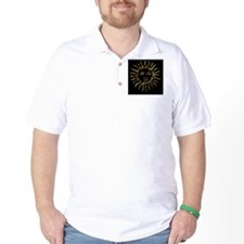 Gold Sun on Black T-Shirt