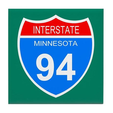 Interstate 94<BR> Tile Coaster