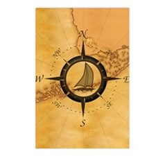 Key West Compass Rose Postcards (Package of 8)