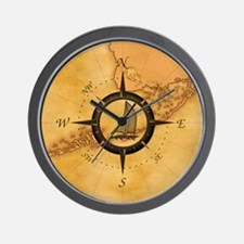 Key West Compass Rose Wall Clock
