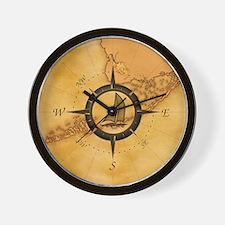vintage compass rose clocks vintage compass rose wall