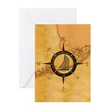 Key West Compass Rose Greeting Card
