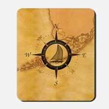 Key West Compass Rose Mousepad