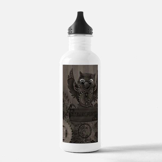 Steampunk Owl Water Bottle