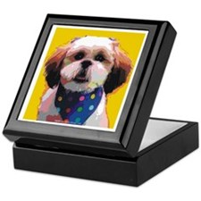 Shih Tzu in Polkadots Keepsake Box