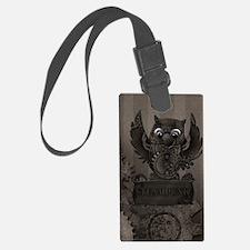 Steampunk Owl Luggage Tag