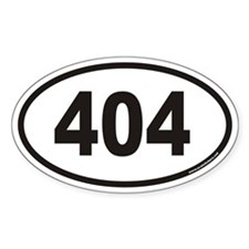 404 File Not Found Euro Oval Decal