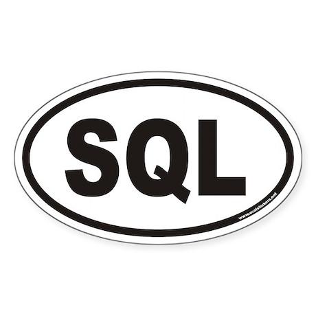 SQL Euro Oval Sticker