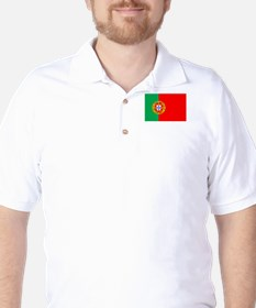 Portuguese Flag of Portugal Golf Shirt