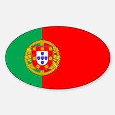 Portuguese Flag of Portugal Oval Decal