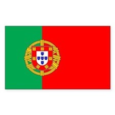 Portuguese Flag of Portugal Rectangle Decal