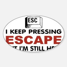 Escape Key Sticker (Oval)