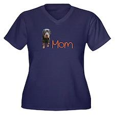 Funny Rottie Women's Plus Size V-Neck Dark T-Shirt