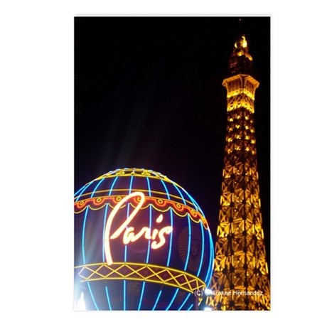 Paris Hotel in Las Vegas Postcards (Package of 8)